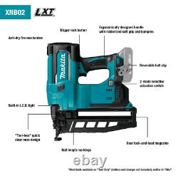16 Gauge Straight Finish Nailer Cordless Brushed Power Tool 18V Lithium Ion Teal