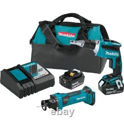 18-Volt LXT Lithium-ion Cordless 2-Piece Combo Kit Brushless Drywall Screwdriver