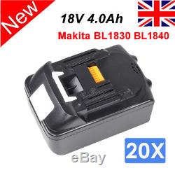 20 PCS New 18V 4.0Ah Lithium Ion Battery For Makita LXT BL1830 BL1840 Cordless