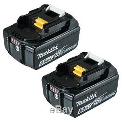 2X Makita BL1850 Genuine 18V 5Ah Lithium-Ion Battery for LXT impact drill saw