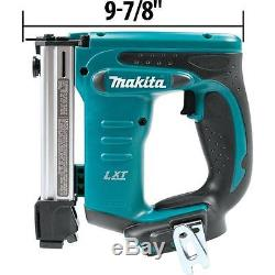 Cordless Electric 3/8in Crown Stapler 18V Lithium Ion Air Nailer Power Tool Bare
