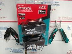 GENUINE Makita BL1860B-2 18-Volt LXT Lithium-Ion 6.0 AH Batteries, 2-Pack+KNIFE
