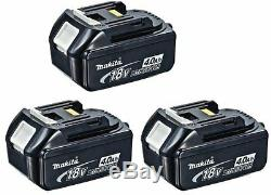 Genuine MAKITA 18V 4.0ah pack of 3 batteries LXT LITHIUM ION BL1840 BATTERY