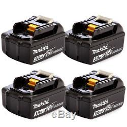 Genuine Makita BL1830 3.0Ah 18V LXT Lithium Ion Batteries Star Marked Pack Of 4