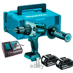 Makita 18V DHP481RMJ Lithium Ion Brushless Combi Hammer Drill 4.0Ah Batteries