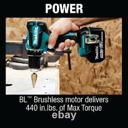 Makita 18V Lithium-Ion Brushless Cordless 1/2in Driver-Drill Kit Battery Charger