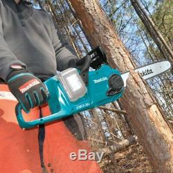 Makita 18V X2 LXT Lithium-Ion Battery Brushless Cordless 14 Inch Chain Saw Tool