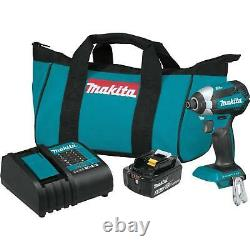 Makita 18-Volt LXT Cordless Impact Driver Kit with Lithium-Ion Battery & Charger