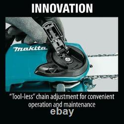 Makita 18-Volt X2 (36-Volt) Cordless 16 in. Chain Saw Kit With4 Batteries 5.0 Ah
