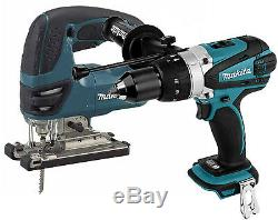 Makita 18v Cordless LXT Lithium Ion DHP458 Combi Hammer + DJV180 Jigsaw SPECIAL