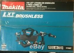 Makita 18v Lithium-ion Brushless 2-piece Combo Kit Xt268t #105577-1 C