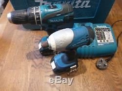 Makita 18v Lithium-ion Twin Cordless Drill + Impact Driver Set In Case