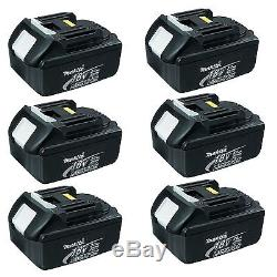 Makita 18v Lxt Lithium Ion Bl1830 Battery 3.0ah Genuine 6 Pack Batteries