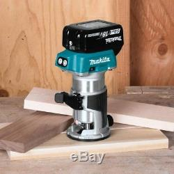 Makita 5.0 Ah 18-Volt LXT Lithium-Ion Brushless Cordless Compact Router Kit
