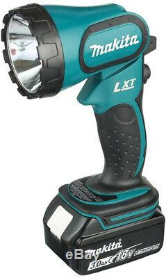 Makita 5 Tool Combo 18 Volt LXT Lithium Ion Cordless Batteries Rapid Charger Bag