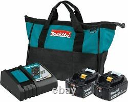 Makita BL1850BDC2 18V LXT Lithium-Ion Battery and Rapid Optimum Charger Starter