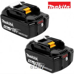 Makita Bl1850 B 18v 5.0ah Lithium Ion Battery With New Led Indicator Pack Of Two