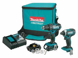 Makita CT225R 18V Compact Lithium-Ion Cordless 2-Pc. Combo Kit