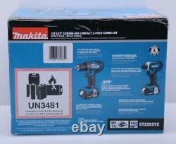 Makita CT225SYX 18-Volt LXT Lithium-Ion Compact 2-Piece Combo Kit Drill/Impact