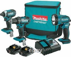 Makita CT320R 18V LXT Lithium-Ion Compact 3-Pc. Combo Kit NEW