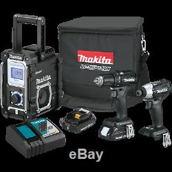 Makita CX301RB 18V LXT LithiumIon SubCompact Brushless Cordless 3Pc. Combo K