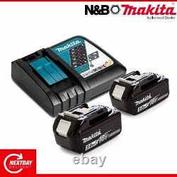 Makita DC18RC/BL1850BX2 SINGLE CHARGER AND BATTERY 18v 5.0AH Twin Pack