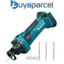 Makita DCO180Z 18v Lithium Ion Cordless Drywall Cut Out Tool Cutter + 3 Cutters