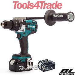 Makita DHP481Z 18v LXT Lithium-Ion Combi Hammer Drill With 2 x 5.0Ah Batteries