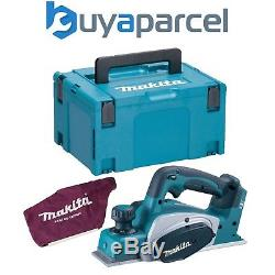 Makita DKP180Z 18v Planer LXT Lithium Ion Cordless Bare + MakPac Case + Dust Bag