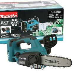 Makita DUC302Z 30cm / 12 Twin 18v LXT Cordless Cordless Lithium Ion Chainsaw