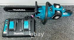 Makita DUC353 Cordless Chainsaw With 2 18v Ah Lithium-Ion Batteries And Charger