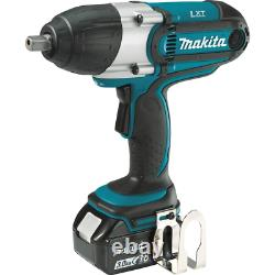 Makita Drive Impact Wrench Kit 1/2-Inch Sq. 18-Volt LXT Lithium-Ion Cordless