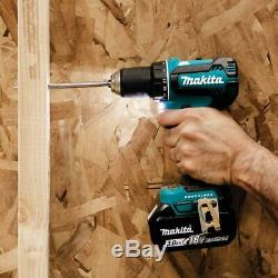 Makita Driver-Drill Kit 1/2 in. 18-Volt Lithium-Ion Cordless Battery Charger