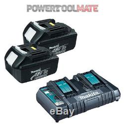 Makita Genuine BL1830 3.0ah Lithium-ion Battery TWIN PACK & DC18RD