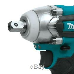 Makita Impact Wrench Kit 1/2 in. 3-Speed 18-Volt Lithium-Ion Battery Charger