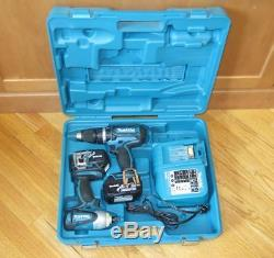 Makita LXT211 18-v Lithium-Ion Combo BHP452 Hammer Drill & BTD141 Impact Driver