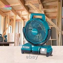 Makita Lithium Ion Cordless Fan 3 Speed Quiet Operation Portable (Tool Only) New