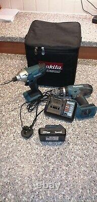Makita Lithium-ion Drill Set 18v Impact Driver With Carry Bag