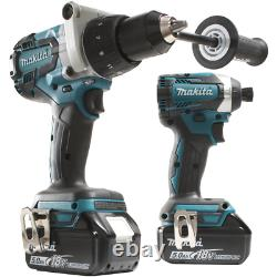 Makita Power Tool Combo Kit 18V Lithium-ion Cordless Charger Included (2-Piece)
