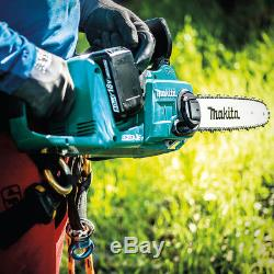 Makita XCU03PTX1 36-Volt 14-Inch LXT Lithium-Ion Chain Saw Kit and Angle Grinder