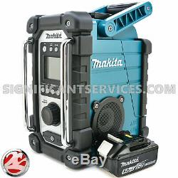 Makita XRM05 18V LXT Lithium-Ion Cordless Job Site Radio BL1850B 5.0 Ah Battery