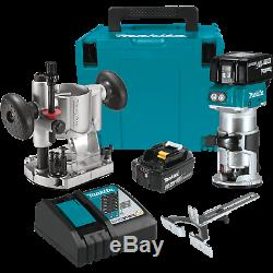 Makita XTR01T7 18V LXT LithiumIon Brushless Cordless Compact Router Kit