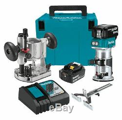 Makita XTR01T7 18V LXT LithiumIon Brushless Cordless Compact Router Kit NEW