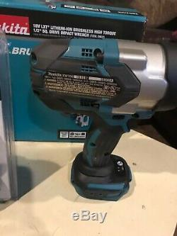 Makita XWT08Z Lithium-Ion Brushless Impact Wrench (1/2) And Two Batteries New
