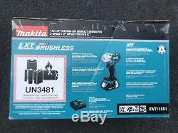 Makita XWT11SR1 18V LXT Lithium Ion Compact Brushless 1/2 Impact Wrench Kit