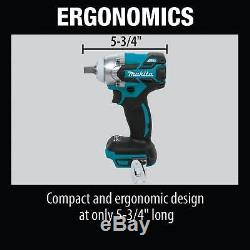 Makita XWT11Z 18V LXT Lithium-Ion Brushless Cordless 1/2 Impact Wrench (Bare)