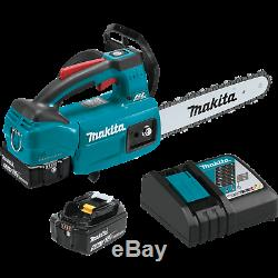 Makita xcu06T 18V LXT LithiumIon Brushless 10 Top Handle Chain Saw Kit 5.0