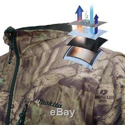 Medium Camo 18-Volt LXT Makita Li Lithium-Ion Cordless Heated Hoodie Jacket Coat