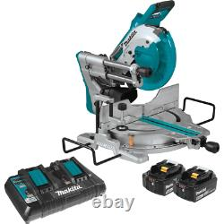 Miter Saw 10 in. 18V. 5.0Ah X2 LXT Dual-Bevel Lithium-Ion Brushless Cordless