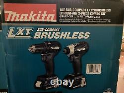 NEW MAKITA 18-Volt LXT Lithium-Ion Sub-Compact Brushless Cordless 2-piece Combo